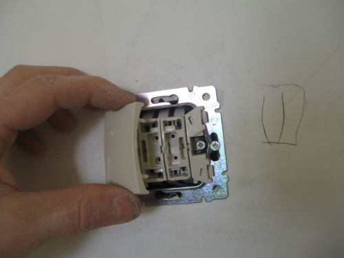 Установка выключателя двойного в фотографиях