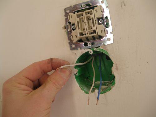 Фото установки двух выключателей