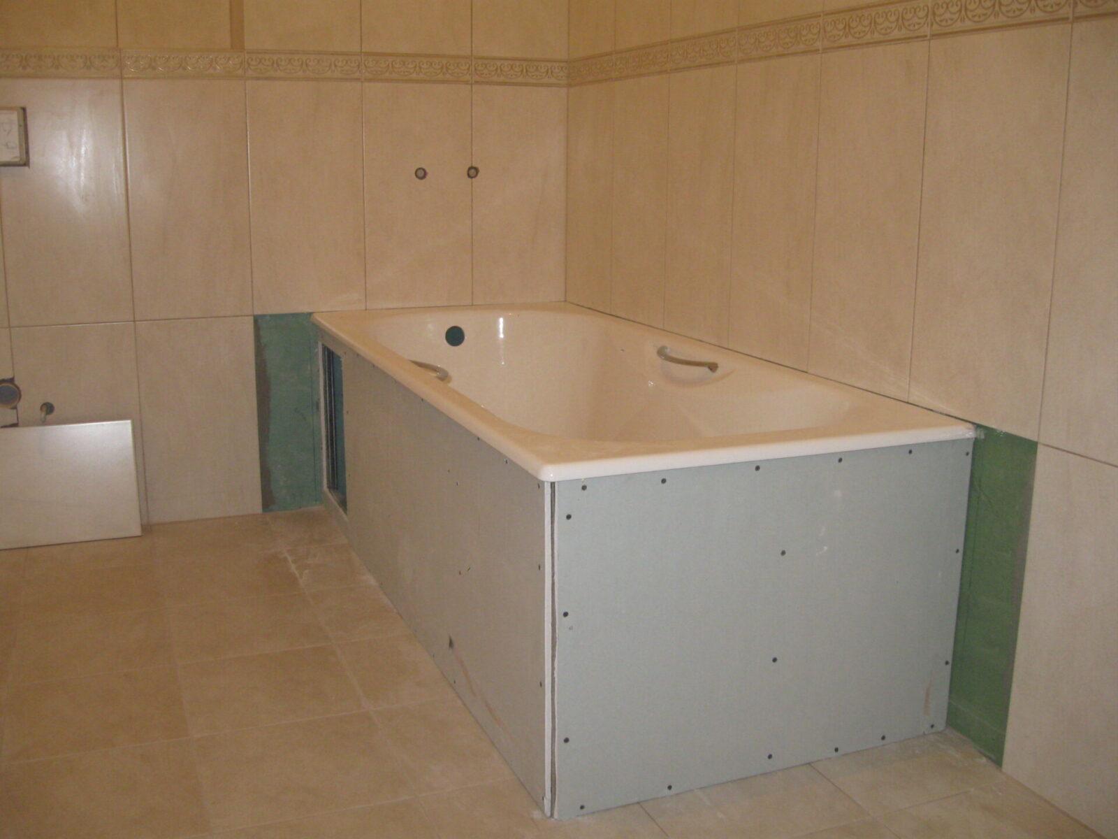 Монтаж короба в ванной своими руками из гипсокартона 2