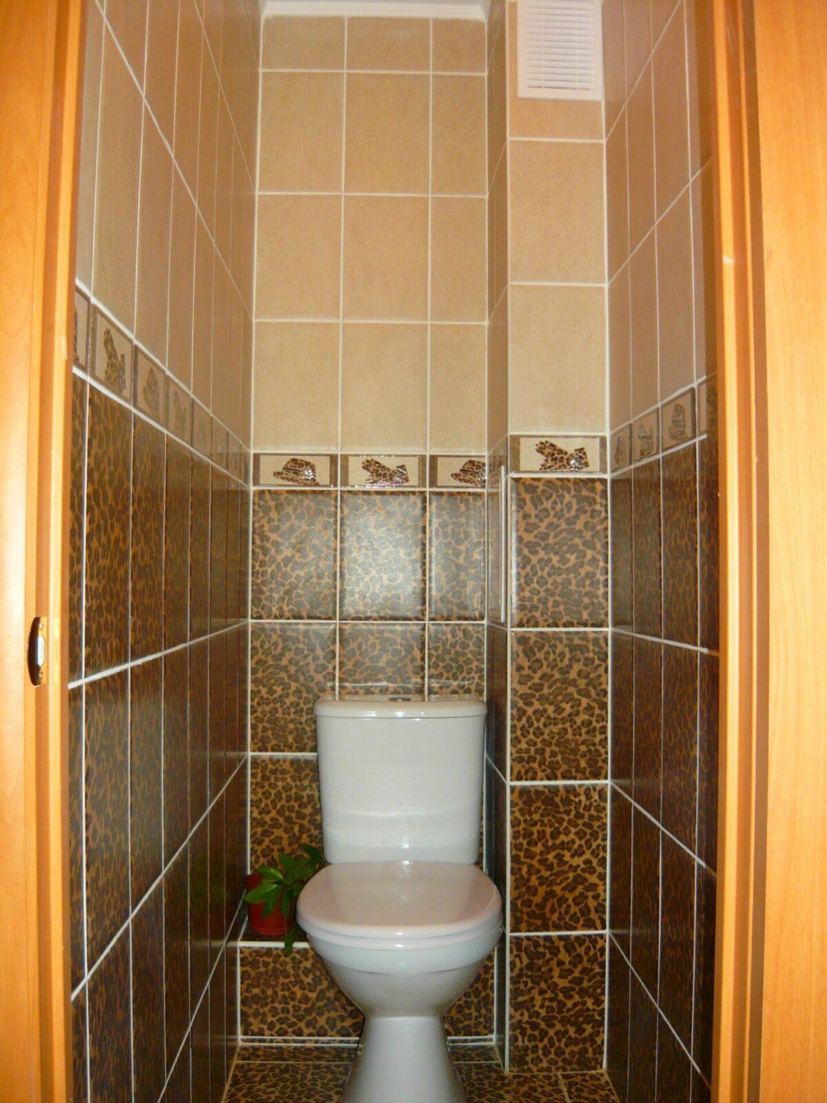 Декор для туалета из плитки