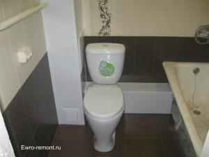 один из самых простых и недорогих ремонтов совмещенной ванной комнаты