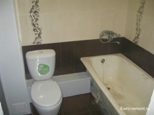 Недорогой ремонт в совмещенной ванной комнате