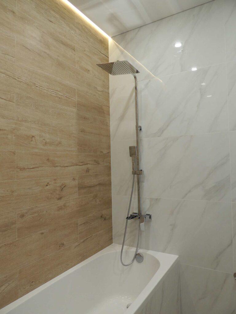 Подсветка в ванной. Тропический душ. Ремонт в Абакане и Минусинске