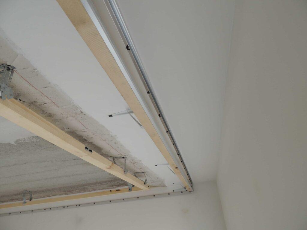 Штукатурка и выравнивание ниши с установкой закладных для натяжного потолка