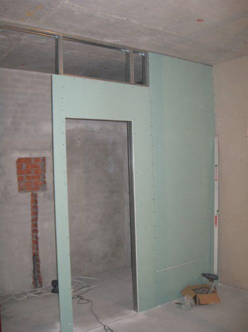 Дверной проем в стене из гипсокартона