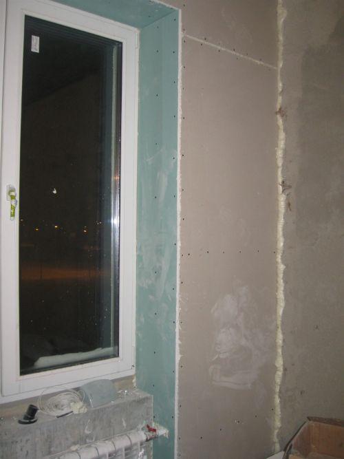Откос для окна из гипсокартона