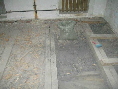 Remove debris under the floor