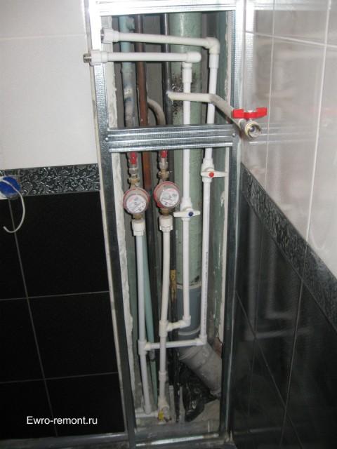 Разводка труб из полипропилена на водонагреватель