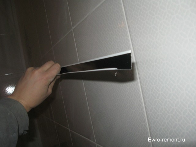 Кант белый для реечного потолка