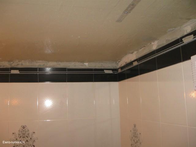 Делаем пластиковый потолок в ванной