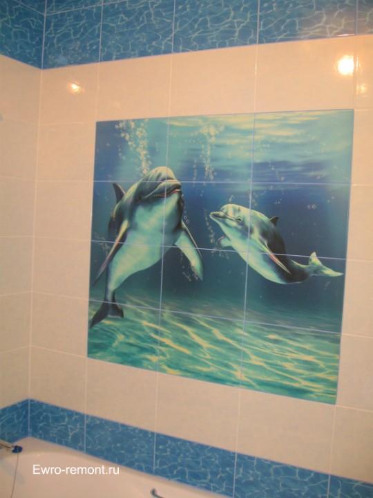 Панно с дельфинами. Фотопечать