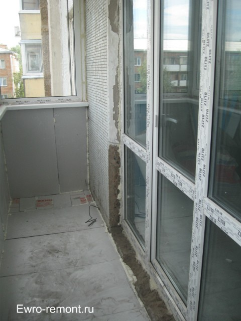 Французское окно вид с балкона (лоджии)