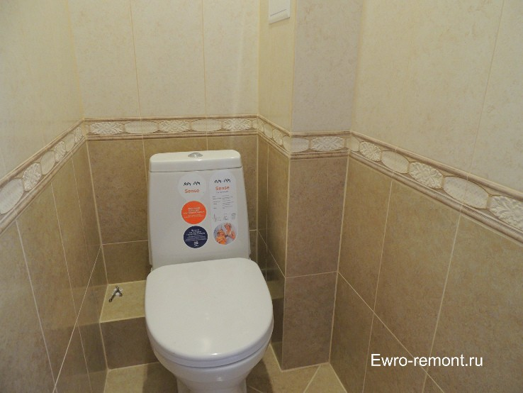 Плитка Peronda (Испания) в туалете.