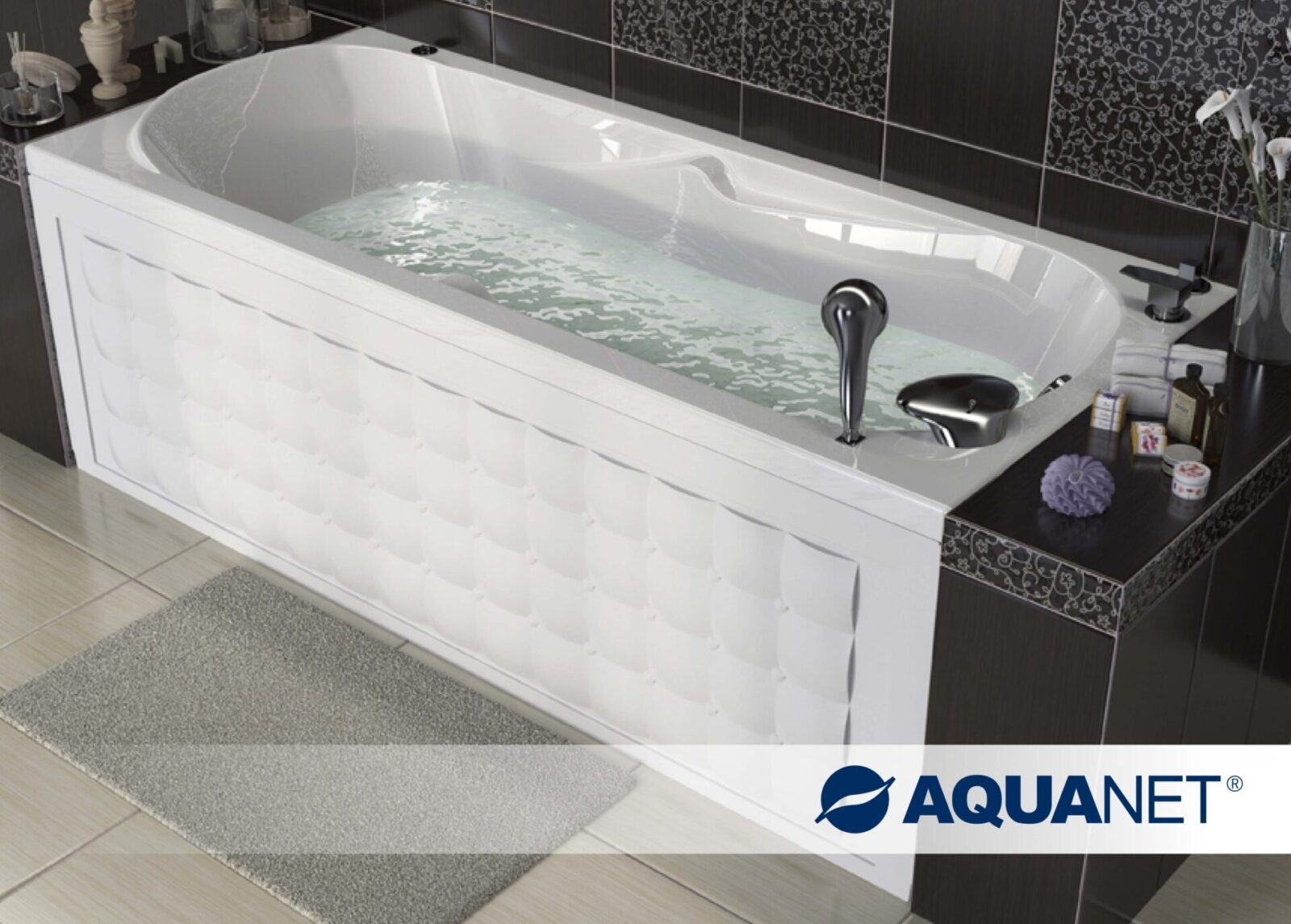 Акриловая ванна AquanetRosa 170х75