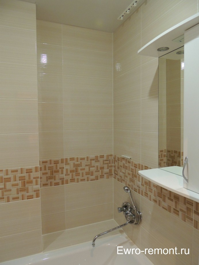 Ремонт ванной комнаты в г. Минусинске.