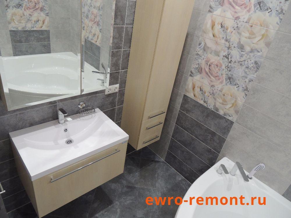 Установка подвесной мойки и шкафа в ванной Минусинск