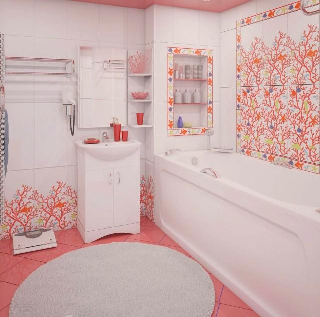 Акриловая ванна в интерьере
